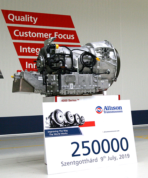 250,000th Allison Transmission from Hungary