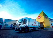 Iveco Stralis methane trucks with Allison transmissions make Transgourmet's food transports more environmentally-friendly
